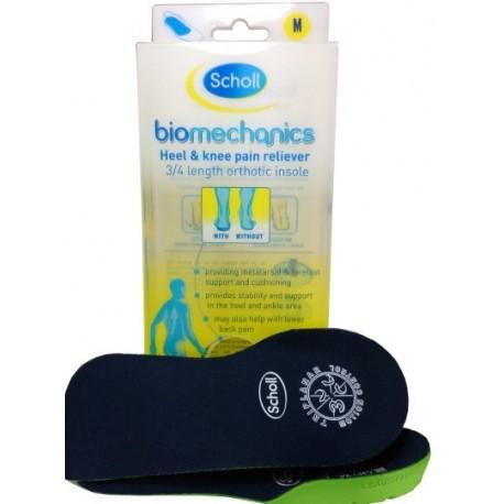 Scholl Biomechanics 3/4 Heel and Knee Pain Reliever wkładki do butów 2szt